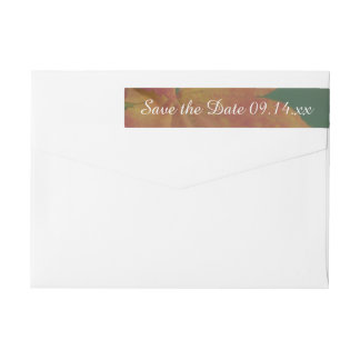 Autumn Colors Wedding Save the Date Wraparound Return Address Label