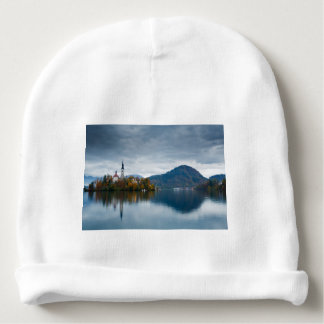 Autumn colours at Lake Bled Baby Beanie