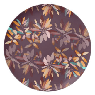 Autumn colours foliage print plate
