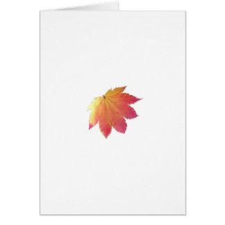 Autumn Colours Leaf Greeting Card