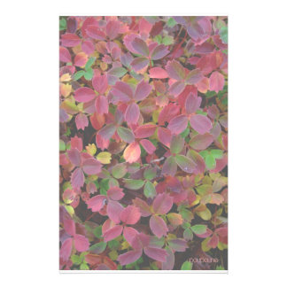 autumn colours personalised stationery