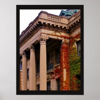 Autumn Columns Poster
