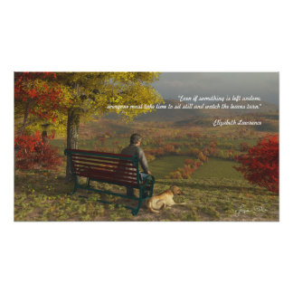 Autumn Companions Poster with Inspirational Quote
