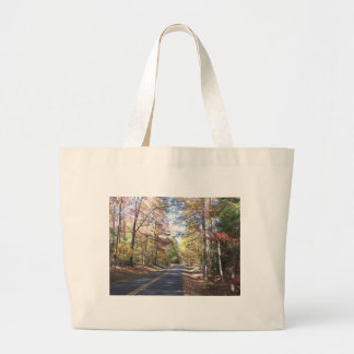 Autumn Country Road Canvas Bags