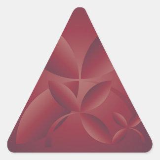 autumn crimson triangle sticker