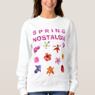 Autumn Cry Spring Nostalgia Flowers 01 Sweatshirt