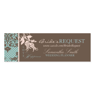 Autumn Damask Skinny Business Card 2