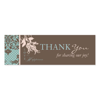 Autumn Damask TY Skinny Card 2 Pack Of Skinny Business Cards