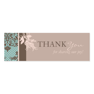 Autumn Damask TY Skinny Card Pack Of Skinny Business Cards