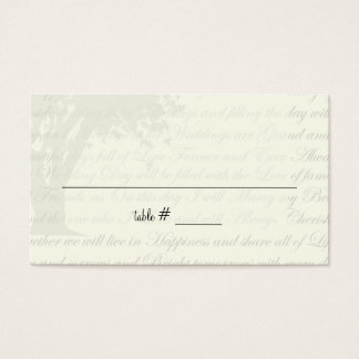 Autumn Dancing Blooms Seating Cards
