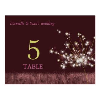 Autumn Dandelion Wedding Table Numbers Postcard