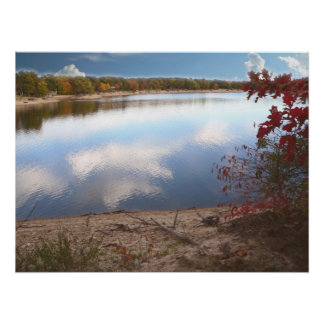 Autumn Day At The Lake Posters