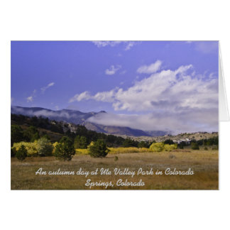 Autumn Day at Ute Valley Park Cards