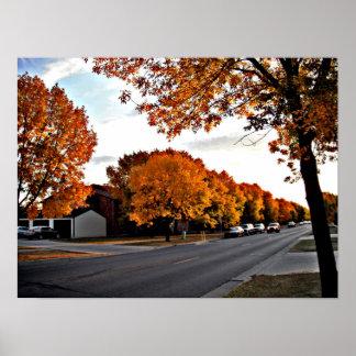 Autumn Day in Fargo Poster