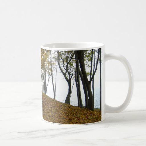 autumn day on the lake mug