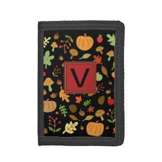 Autumn Design #2 Monogrammable Tri-fold Wallet