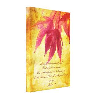 Autumn design, Joshua 1:9, wall poster Canvas Prints