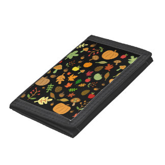 Autumn Design Tri-fold Wallet