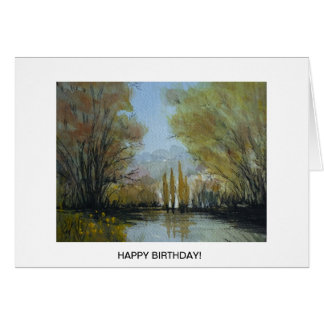 Autumn Down By the Lake, Canberra, Australia Card