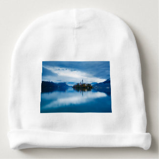 Autumn dusk at Lake Bled Baby Beanie