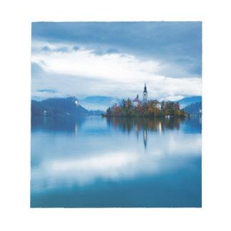 Autumn dusk at Lake Bled Notepad