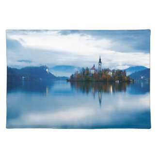 Autumn dusk at Lake Bled Placemat