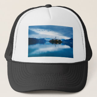 Autumn dusk at Lake Bled Trucker Hat