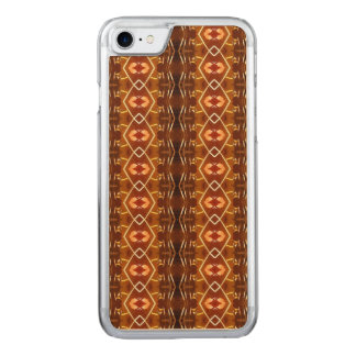 Autumn Earth Tones in a Tribal Pattern Design Carved iPhone 8/7 Case