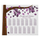 Autumn Eggplant Falling Leaves Seating Chart