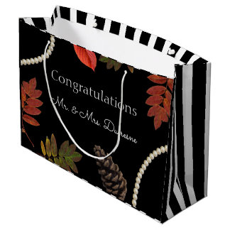 Autumn Elegance Wedding Large Gift Bag