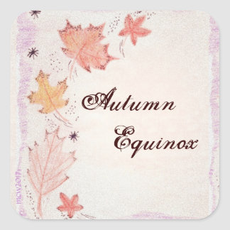 Autumn Equinox Autumn Leaves Mabon Harvest Home Square Sticker