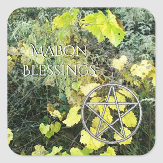 Autumn Equinox Grapevine Mabon Harvest Home Square Sticker