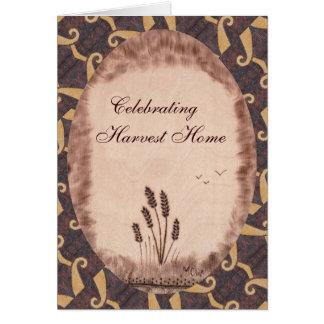 Autumn Equinox Mabon Harvest Home Rustic Field Card