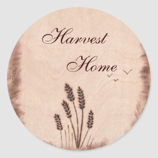 Autumn Equinox Mabon Harvest Home Rustic Field Classic Round Sticker