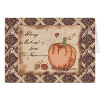 Autumn Equinox Prim Pumpkin  Mabon Harvest Home Card