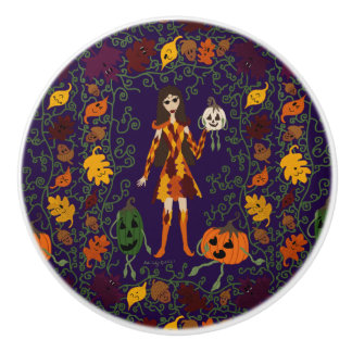 Autumn Faerie Ceramic Knob