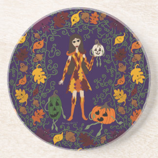 Autumn Faerie Coaster