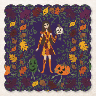 Autumn Faerie Paper Coaster