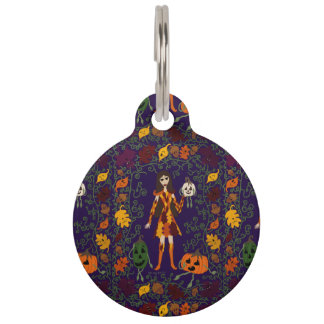 Autumn Faerie Pet Name Tag
