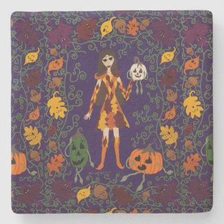 Autumn Faerie Stone Coaster
