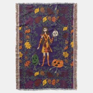 Autumn Faerie Throw Blanket