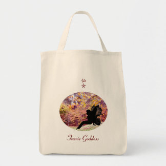 Autumn Fairy 03 Grocery Tote Bag