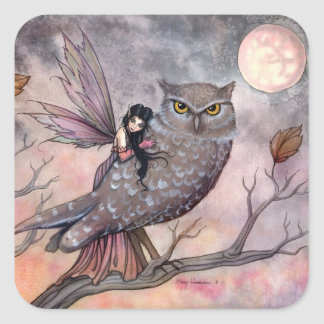 Autumn Fairy and Owl Stickers