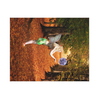 Autumn fairy canvas print