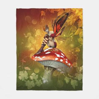 Autumn Fairy Fleece Blanket