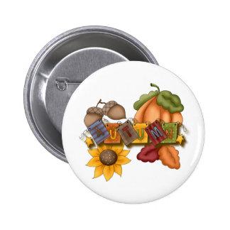 autumn fall bliss 6 cm round badge