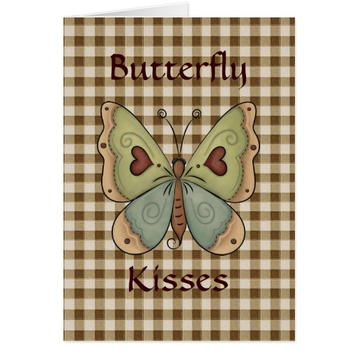 Autumn Fall Butterfly Kisses Greeting Card
