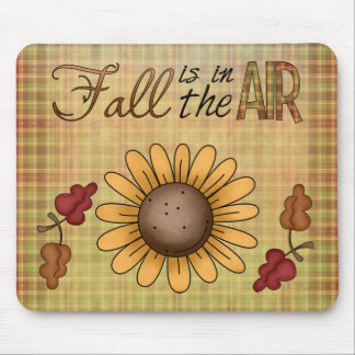 Autumn Fall Collection Sunflower Leaves Mousepad