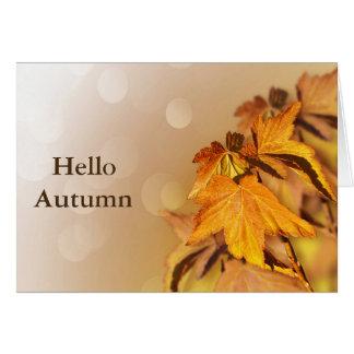 Autumn Fall Leaves Bokeh Card