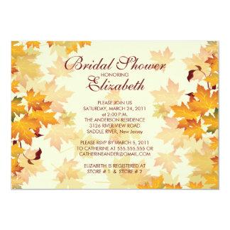 Autumn Fall Leaves Bridal Shower Invitation